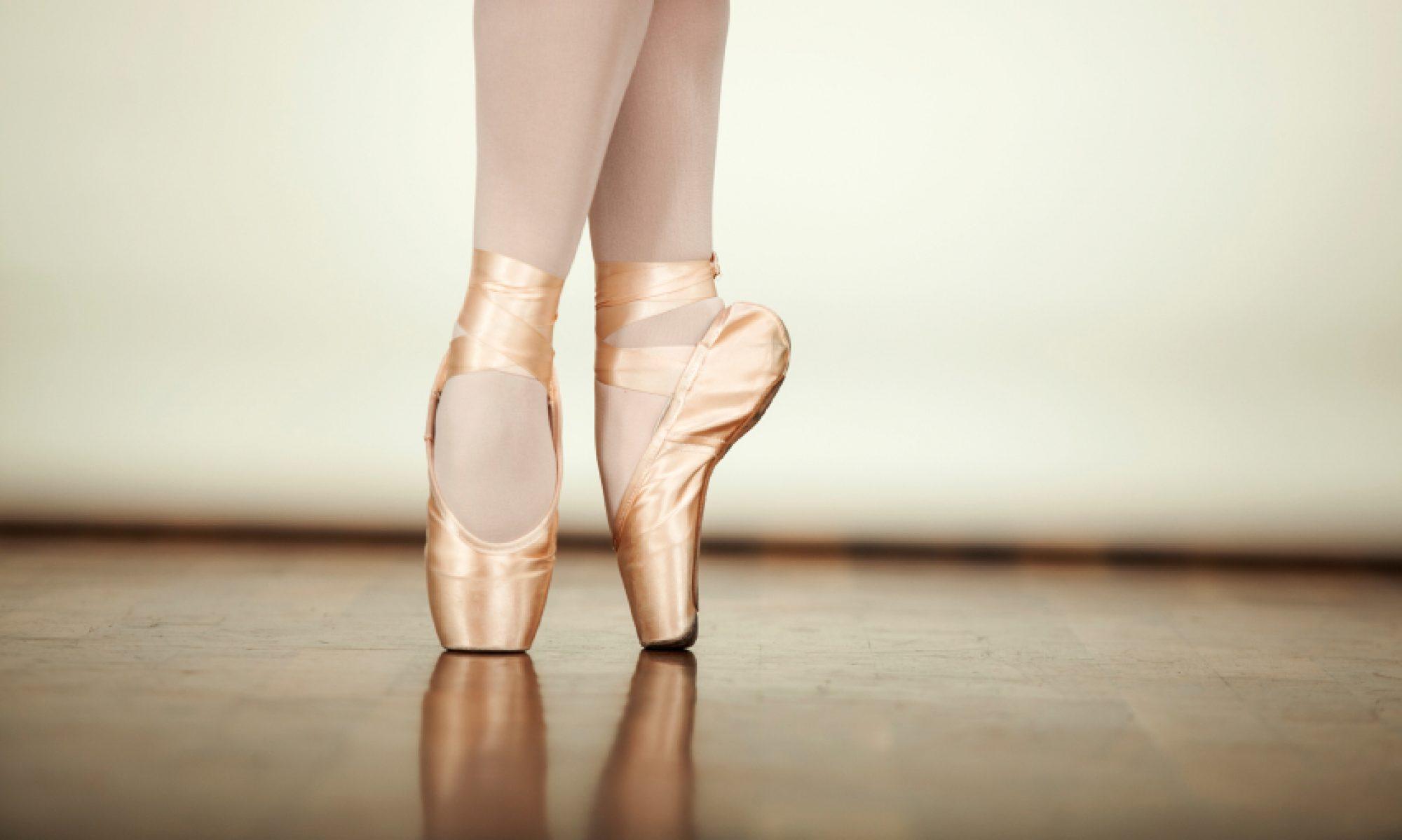 Ballet Dancers Toe Shoes